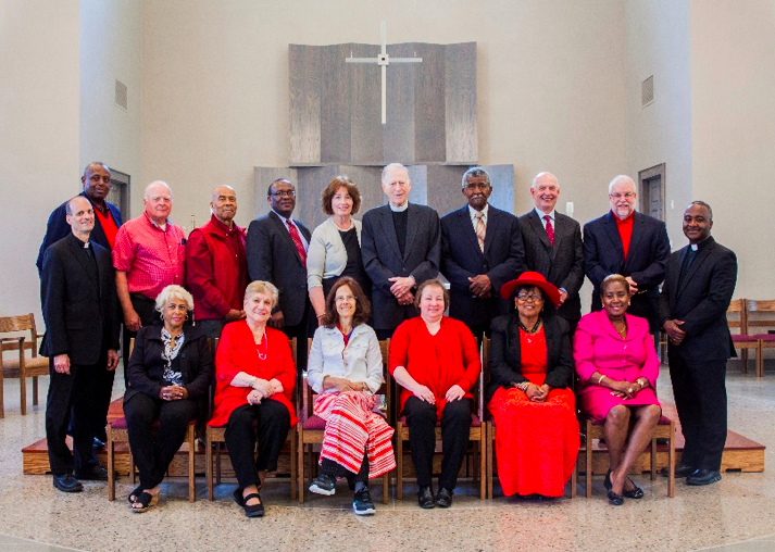 Rector and Vestry, First Service in new Church, Pentecost 2016